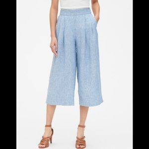 High rise wide leg crop pants